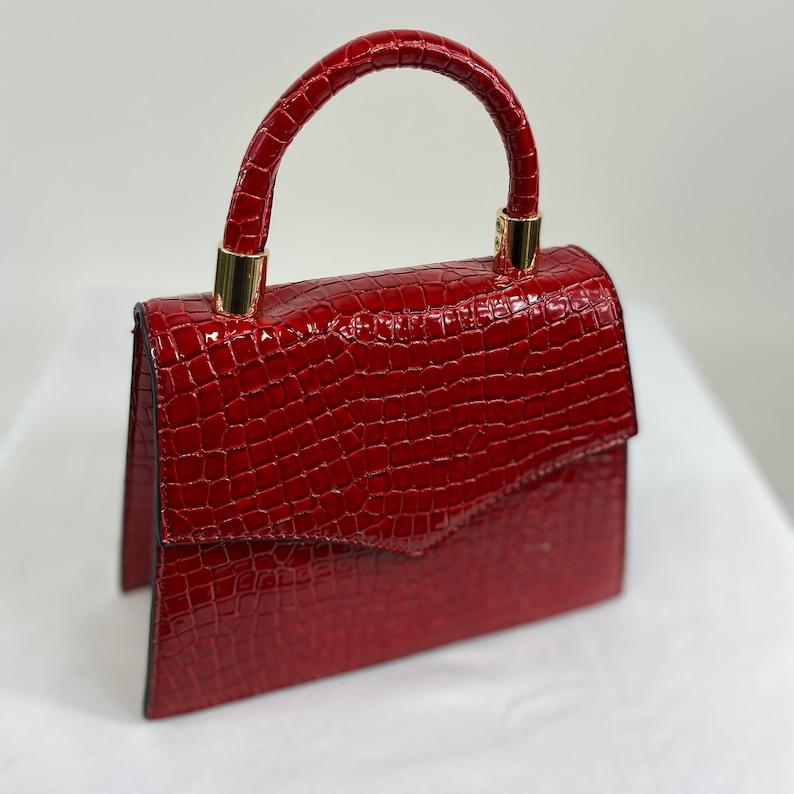 Vintage Handbags, Purses, Bags *New* Classic Penny Handbag in Red Velvet - Vintage Inspired $48.69 AT vintagedancer.com