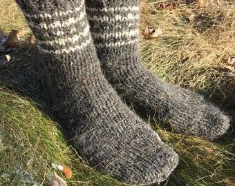 Hand Knitted Wool Socks Pure sheep wool Unisex Socks Knit Winter Socks Therapeutical All Sizes Valentine's Day Gift for her Free shipping