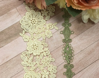 Stretch lace 2 inch Pastel Color Stretch elastic lace