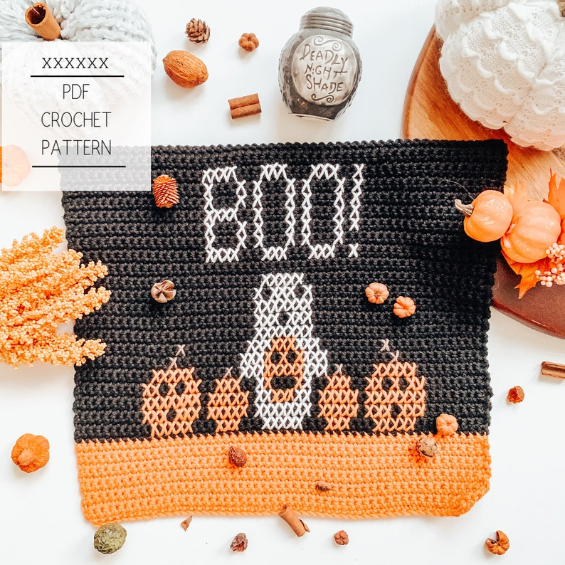 October Dish Towel Crochet Pattern  Crochet Towel  Dish image 0