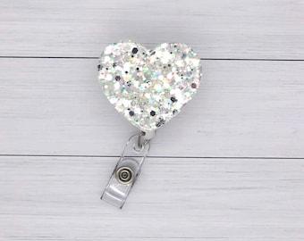 Heart Hashtag Techlife Badge Reel Glittered Pill-Shaped Circle
