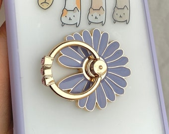 7 Colors 36O Degree Rotatable Daisy Phone Ring Grip Stand High Quality