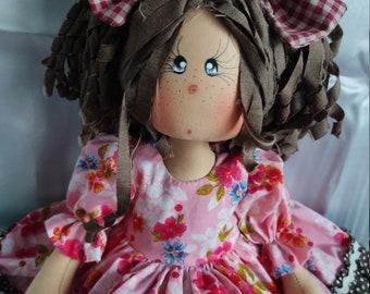 Rag doll or fabric.