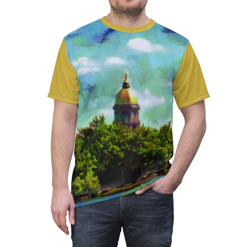 ND Dome Unisex JerseyTee with Golden Sleeves. image 0