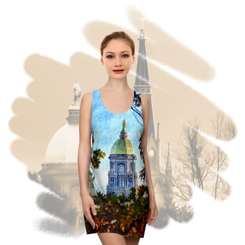 Golden Dome Fall Painting Women's Dress image 0
