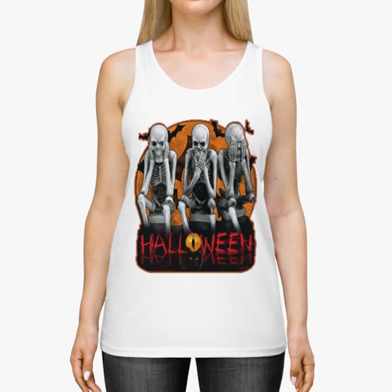 Unisex Halloween Skeletons 3  Athletic Custom image 0