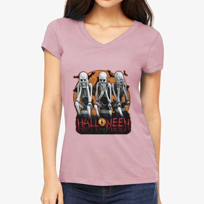 Women's Eerie Halloween Skeletons 3 Jersey image 0