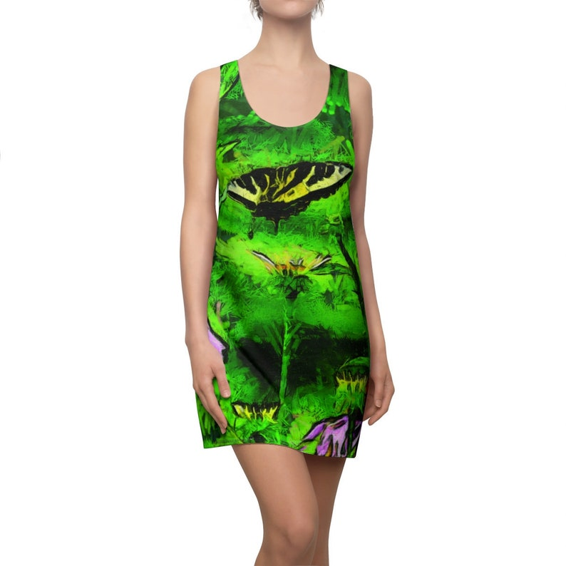 Amazing Yellow Butterfly on Green Women's image 0