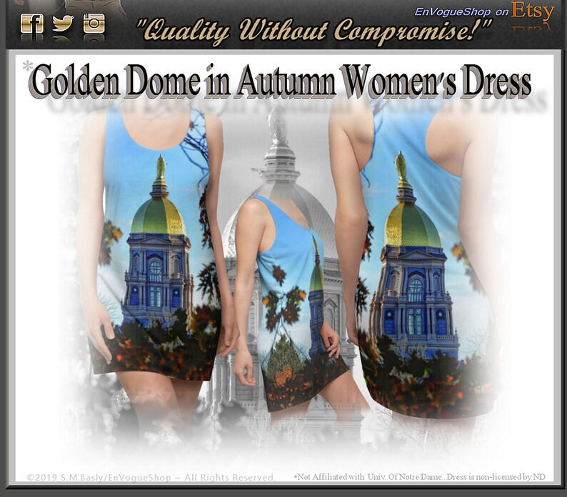 Golden Dome in Autumn Women's Racerback Dress is Printed image 0