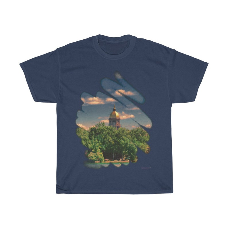 Notre Dame Golden Dome Fancy Tee Many Colors and Sizes Navy