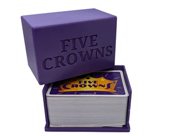 Five Crowns Card Game Storage Case/Box (3D Printed)