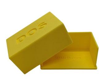 DOS Card Game Storage Case/Box (3D Printed)