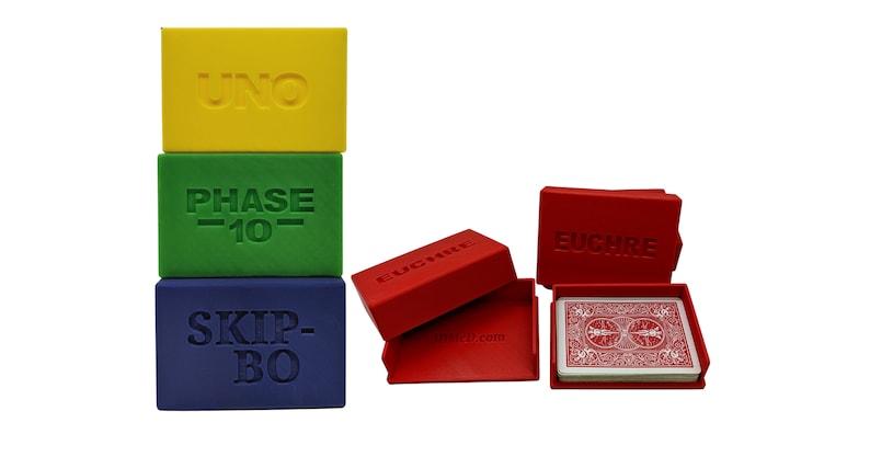 Card Storage Cases for Uno Phase-10 Skip-Bo Euchre image 0