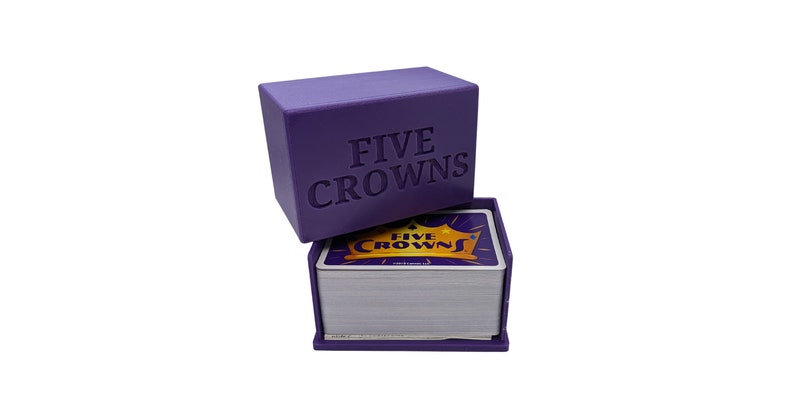 Five Crowns Card Game Storage Case/Box 3D Printed image 0