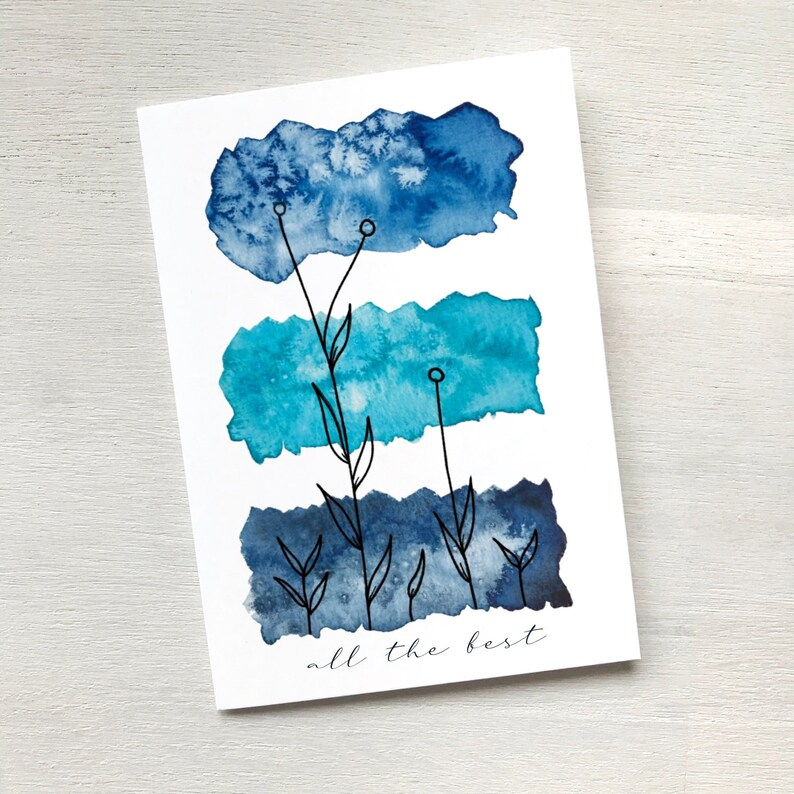Greeting card All the best including a blank image 0