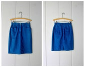 90s Jean Skirt Indigo Blue Denim Skirt Vintage Mini Jean Skirt