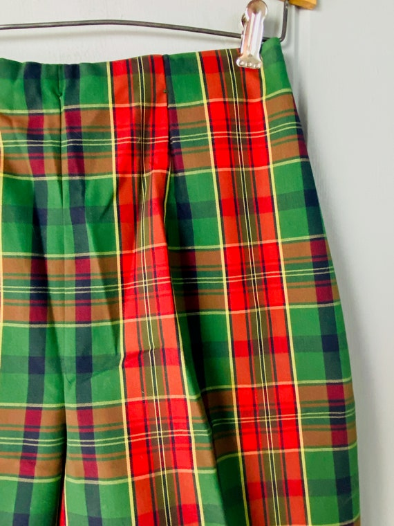 60s Tailored High Waist Tartan Shorts | Skinny Sh… - image 4