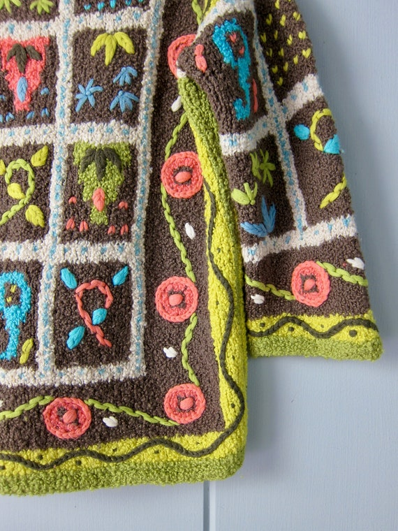 Vintage Hand Knit Italian Sweater | Colorful Flor… - image 8