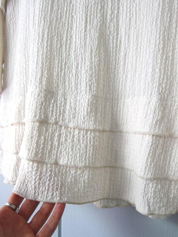 Minimal Creamy White Blouse | Textured Tunic Top … - image 7