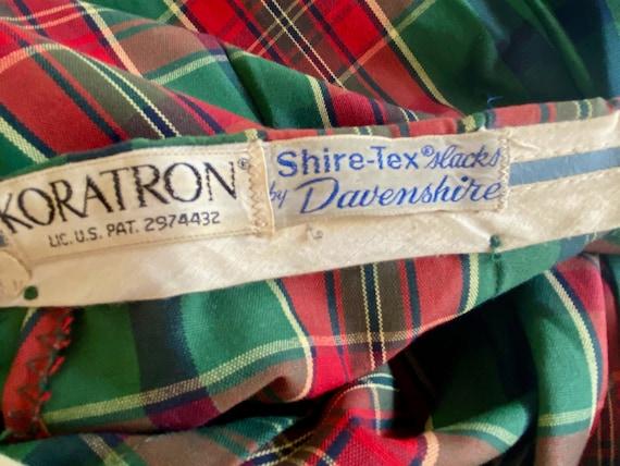 60s Tailored High Waist Tartan Shorts | Skinny Sh… - image 6