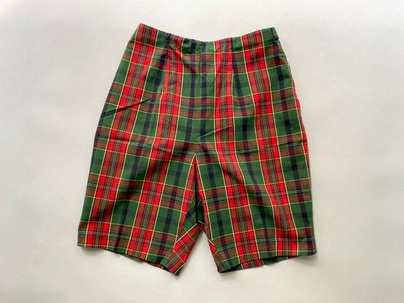 60s Tailored High Waist Tartan Shorts | Skinny Sh… - image 8