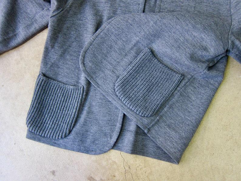 60s Open Sweater Jacket Vintage Cropped Sweatshirt Coat Modern Gray Wool Knit Jacket