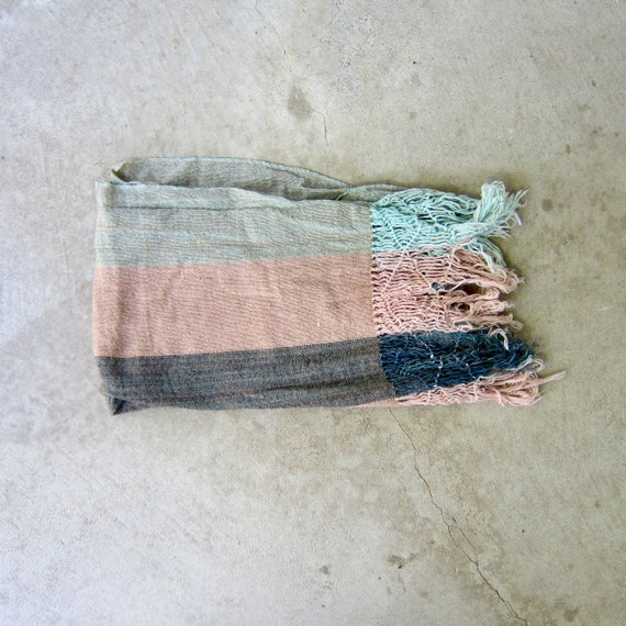 Colorful Long Wool Scarf | Handwoven Oaxaca Neck S