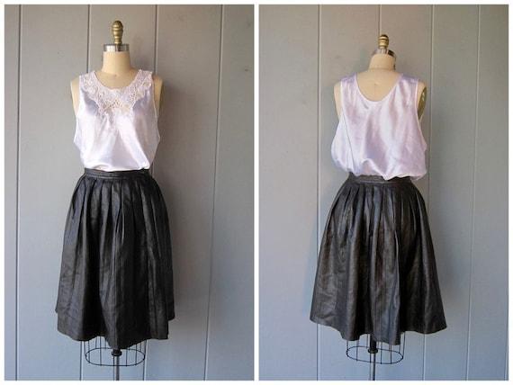 Neil Barrett Leather Skirt | Pleated A Line Skirt