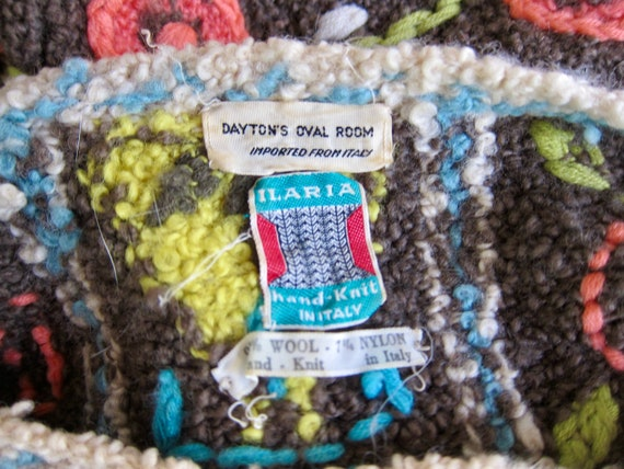 Vintage Hand Knit Italian Sweater | Colorful Flor… - image 5
