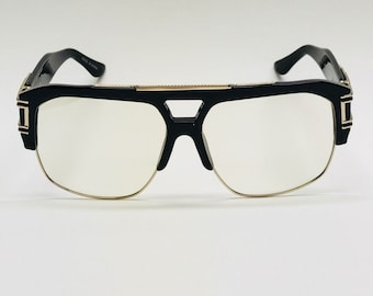Big Square Thick Men/'s Brown Vintage Sunglass with Brown lens Freddy