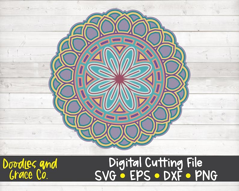 Download 3D Mandala SVG Layered Mandala SVG Paper Crafting SVG | Etsy