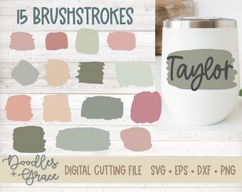 Brush Strokes SVG Bundle | Brush Stroke SVG | Keychain SVG | Tumbler svg | Paint Brush Stroke Bundle | svg | dxf | eps | png