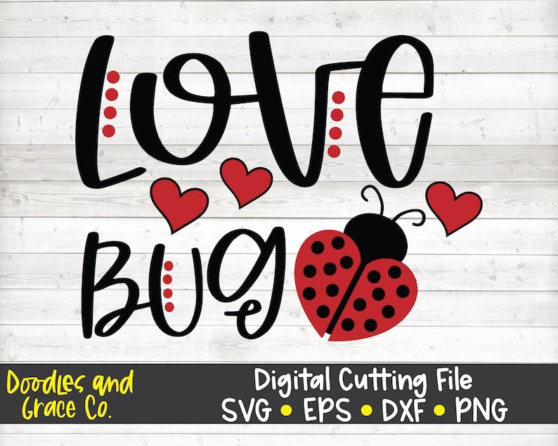 Download Love Bug SVG Kids Valentine's Day SVG Ladybug SVG | Etsy