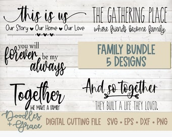 Family SVG Bundle | Family svg quotes | Family svg | Marriage svg | Wedding Gift SVG | Anniversary Gift svg | svg | eps | dxf | png