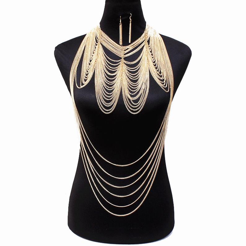 Gold Body Chain Chain Skirt,Dance Wear,Festival Costume,Fringe Body Chain,Chain Bra Set,Sexy Bikini Body Jewelry Chain Bra,Chain Bottom