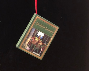Robin Hood Miniature Book Christmas Ornament