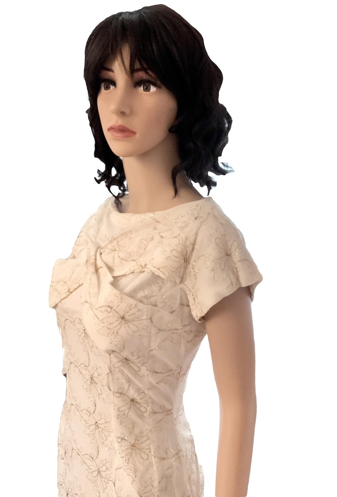 1950s Dress. 50s Dress. Cocktail Dress. Wedding Dress. Pinup