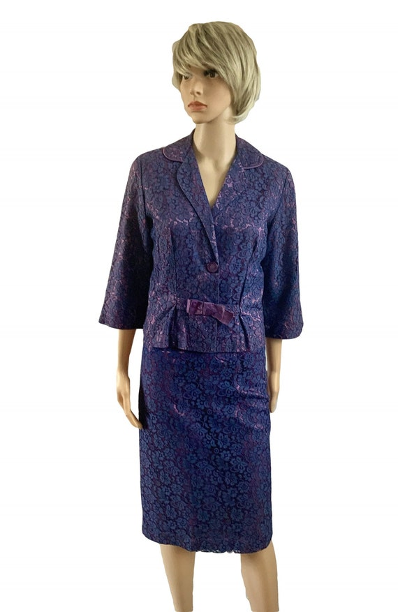 50's Purple Wiggle Suit