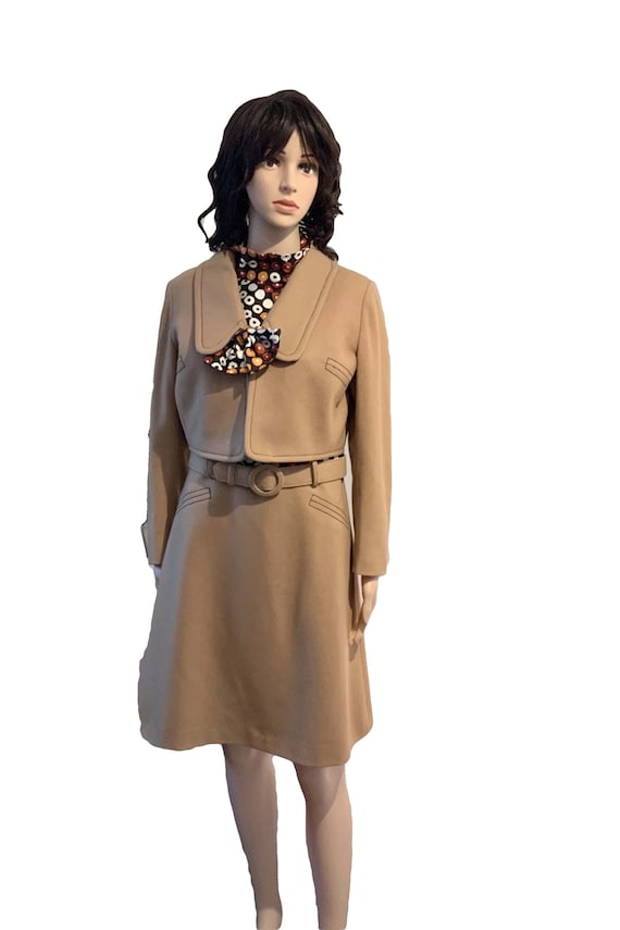 Vintage 60s Mod. 60s Mod Dress. 60s Jacket. Womens