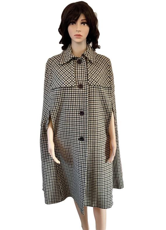 Cape Coat Vintage Cape Wool Cape Cloak 60s Coat Ho