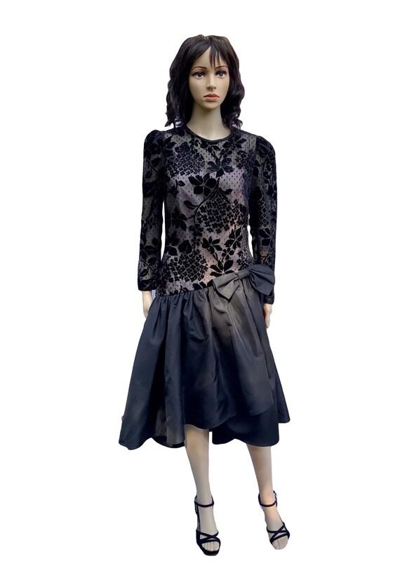 Radley 70s Black Cocktail Dress