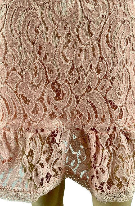 60s Pink Lace Mod Dress - image 4