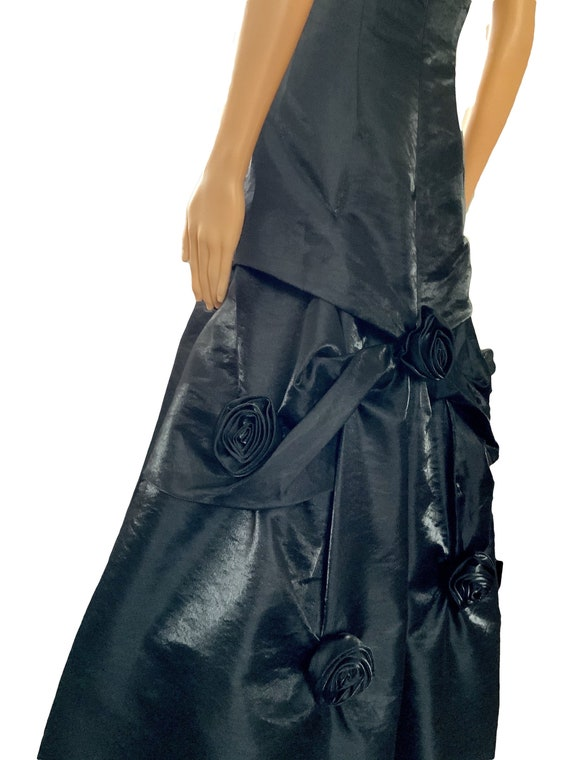 80s Black Cosplay Dress Prom Halloween Party Dress
