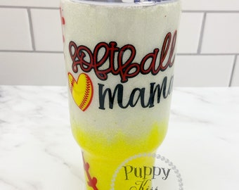 Softball Mama 32oz FREE Personalization: Name or Initials Stainless Steel!
