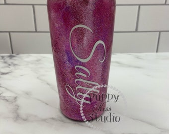 Rock Candy Custom Glitter Tumbler + Lid 22oz FREE Personalization: Name Initials Monogram Phrase Stainless Steel