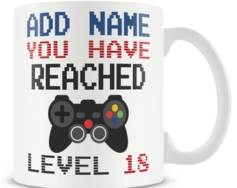 GAMING BIRTHDAY GIFT PERSONALISED AGE /& NAME *FREE ENGRAVING* XBOX 18th PARTY
