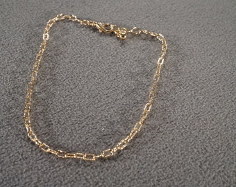 Vintage Art Deco Style Sterling Silver Genuine Cubic Zirconia Heart Design Line Link Necklace Jewelry   K#53