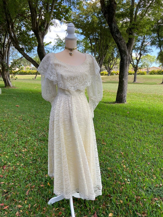 RARE Authentic Edwardian Lace Dress XS
