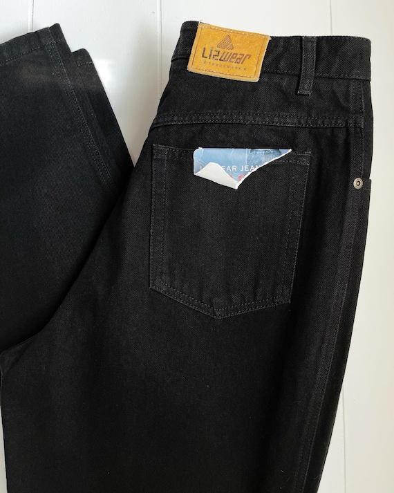dead stock 1990's Liz Claiborne true black jeans,