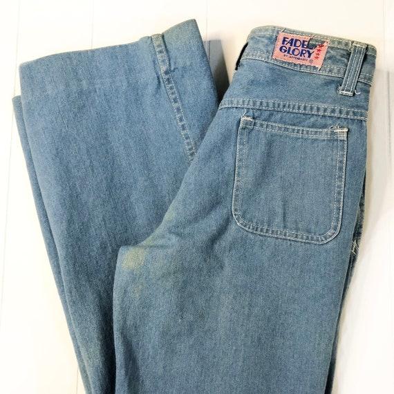 """1970's faded glory flare blue jeans / 27"""" waist"""
